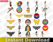 Wonder Women Bundle SvG PnG EpS