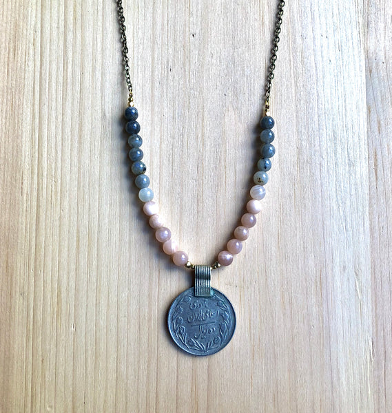 Vintage kuchi coin necklace