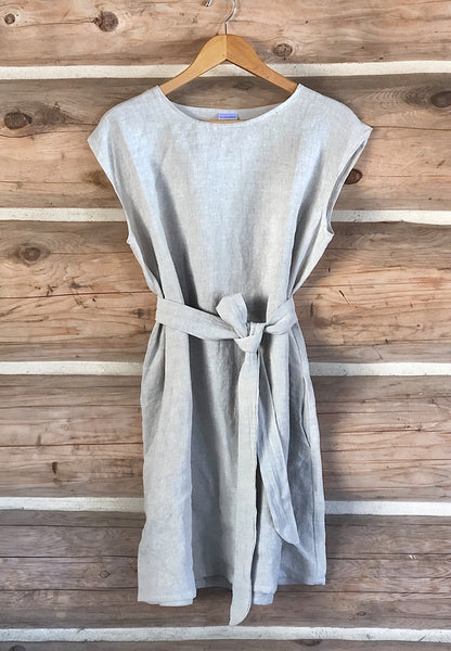 Linen Short Sleeve Dress