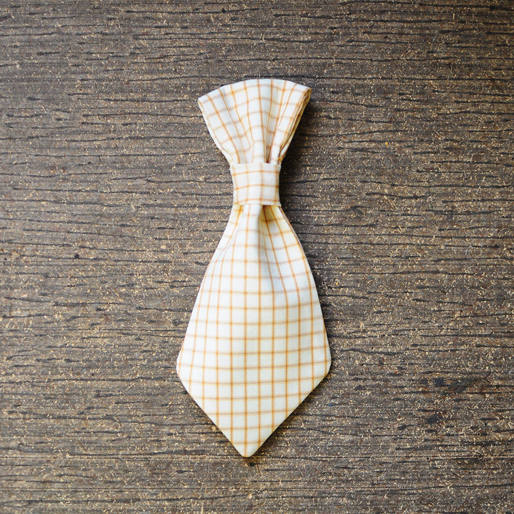 Yellow Plaid Tie