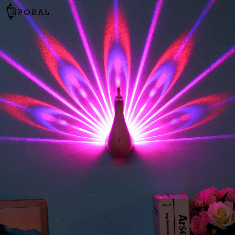 LED Peacock Projection Lamp