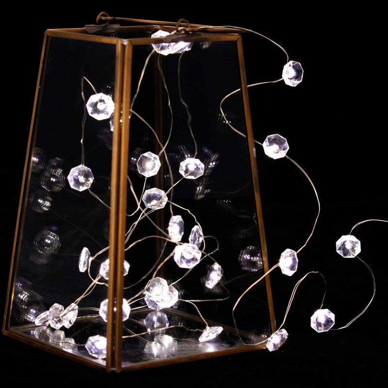 Crystal Diamond String Light