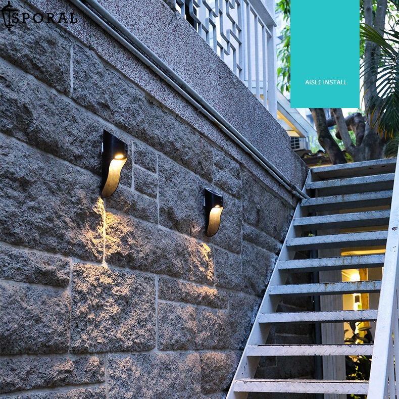 Solar-Powered Motion Sensor Wall Lights