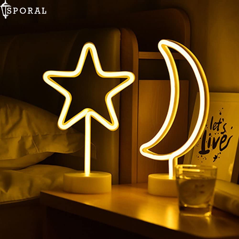 LED Decorative Moon Neon Light