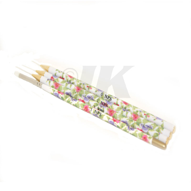 Nail Art Brush (4pcs) - Flowers