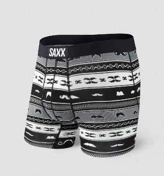 Saxx Ultra Boxer Brief Fly  - Black Stache