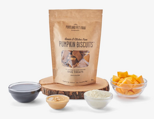Biscuits: Grain & Gluten Free Pumpkin Dog Biscuits