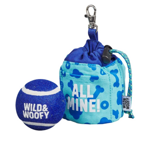 Wild & Wolf Fetch and Treat Pouch with Ball