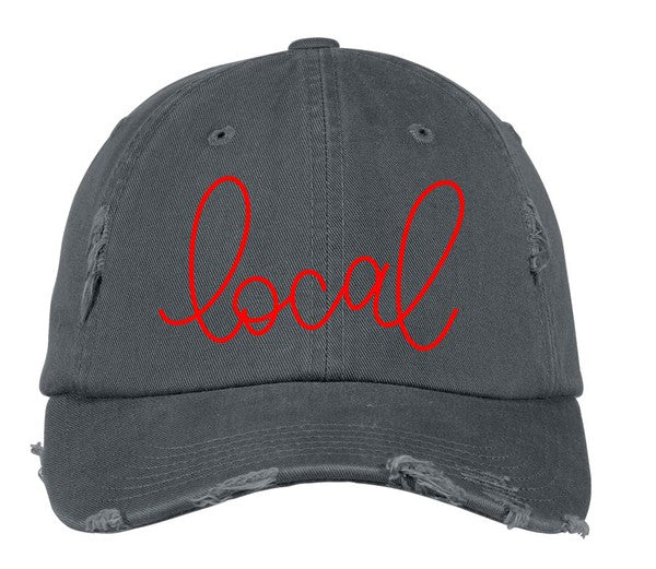 "CR ""Local"" Distressed Hat - Grey"