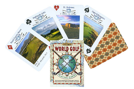 World of Golf Playing Cards with A Twist