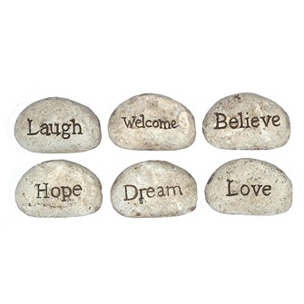 CR Recycled Paper Stone with Inspirational Stones