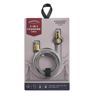 Wild & Wolf 3-in-1 Charging Cable - Assorted Colors