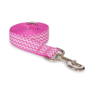 "Fabdog Pink Chevron Leash - Small 5/8"" x 5"""