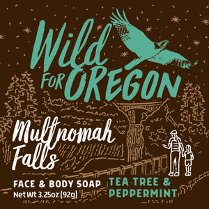 Wild For Oregon Multnomah Falls Tea Tree & Peppermint Bar Soap