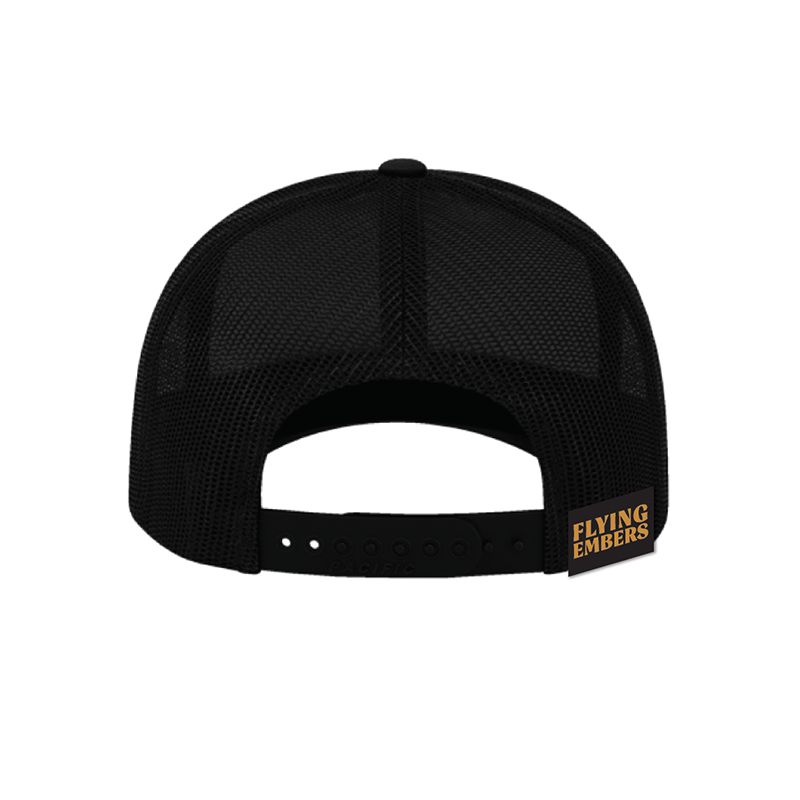 TRUCKER SNAP BACK HAT, BLACK
