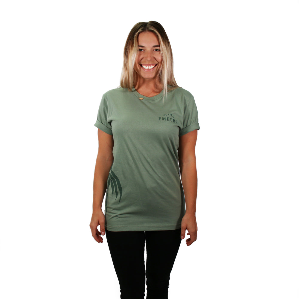 Flying Embers Premium Short Sleeve Green