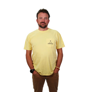 Flying Embers Vintage Tee in Yellow