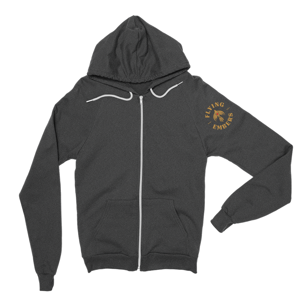 Load image into Gallery viewer, Flying Embers Zip Hoodie Grey