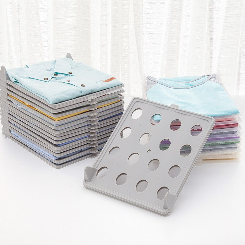 Practical Fast Clothes Fold Board Clothes Organization System Shirt Folder Travel Closet Drawer Stack Household Closet Organizer
