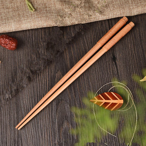 Handmade Japanese Natural Chestnut Wood Chopsticks Set Value Gift Sushi Chinese food Tie line