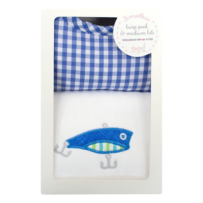 Bib & Burp Box Set - Fishing Pole-Baby-3Marthas-So & Sew Boutique
