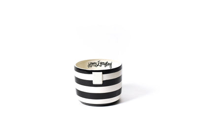 Black Stripe Mini Happy Everything! Bowl-Housewares-Coton Colors-So & Sew Boutique
