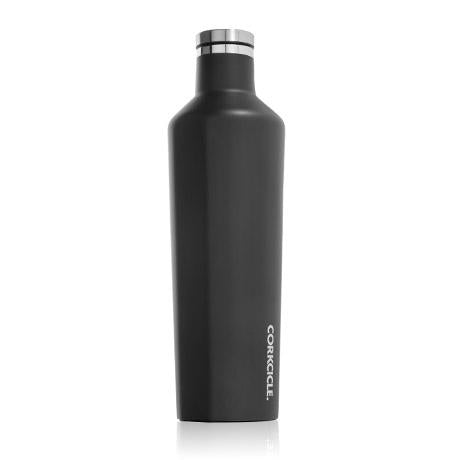 Canteen - Matte Black-Drinkware-Corkcicle-25 oz-So & Sew Boutique