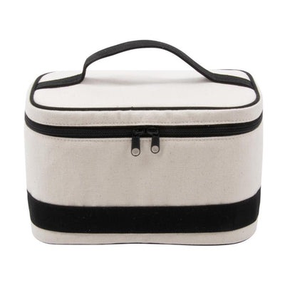 Canvas Train Case - Black-Bags-MSC-So & Sew Boutique