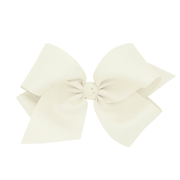 Colossal Grosgrain Bow - Antique White-Accessories-WeeOnes-So & Sew Boutique