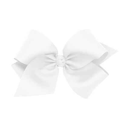 Colossal Grosgrain Bow - White-Accessories-WeeOnes-So & Sew Boutique