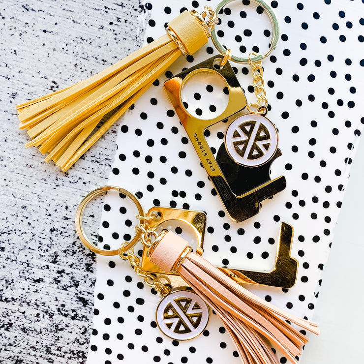 Don't Touch That Key Chain w/ Tassel-Accessories-Pieces of Me-So & Sew Boutique