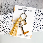 Don't Touch That Key Chain w/ Tassel-Accessories-Pieces of Me-Black-So & Sew Boutique