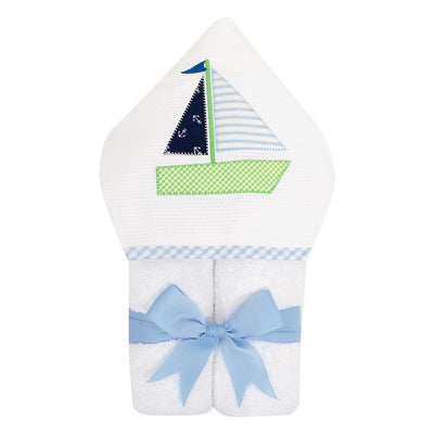 Everykid Towel - Blue Sailboat-Baby-3Marthas-So & Sew Boutique