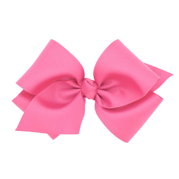 Giant Grosgrain Bow - Hot Pink-Accessories-WeeOnes-So & Sew Boutique