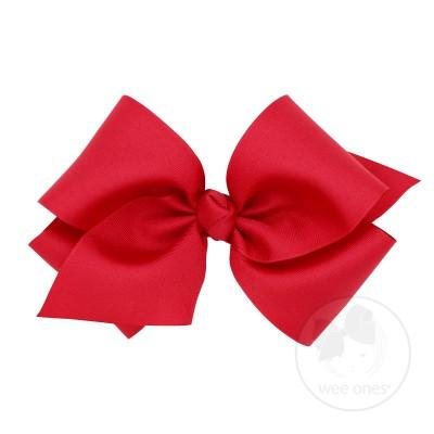 Giant Grosgrain Bow - Red-Accessories-WeeOnes-So & Sew Boutique