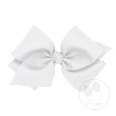 Giant Grosgrain Bow - White-Accessories-WeeOnes-So & Sew Boutique