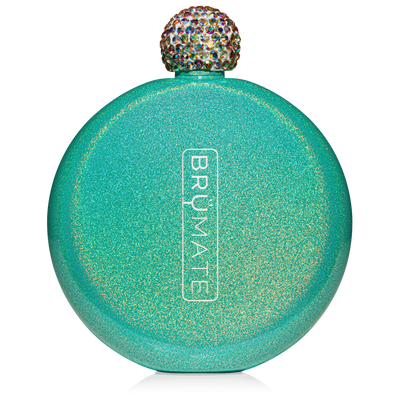 Glitter Flask - Peacock-Drinkware-Brumate-So & Sew Boutique