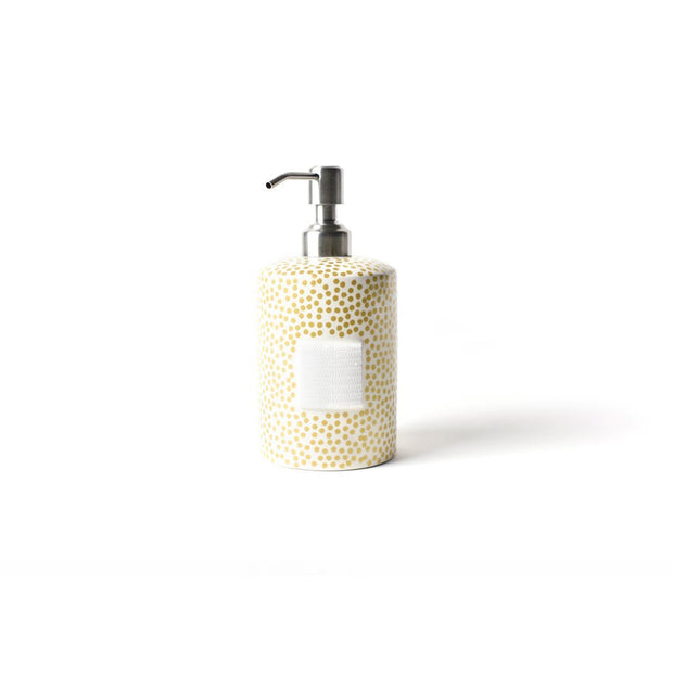 Gold Small Dot Cylinder Soap Pump-Housewares-Coton Colors-So & Sew Boutique