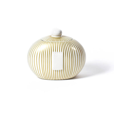 Gold Stripe Big Cookie Jar-Housewares-Coton Colors-So & Sew Boutique