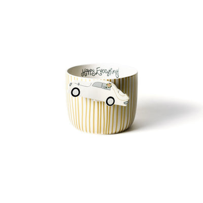 Gold Stripe Happy Everything! Mini Bowl-Housewares-Coton Colors-So & Sew Boutique