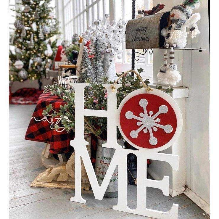 Home Medallion - Snowflake-Home Decor-Greens Mill-So & Sew Boutique