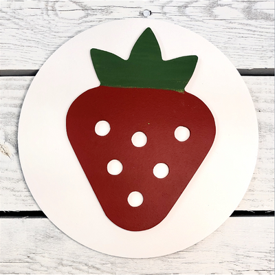 Home Medallion - Strawberry-Home Decor-Greens Mill-So & Sew Boutique