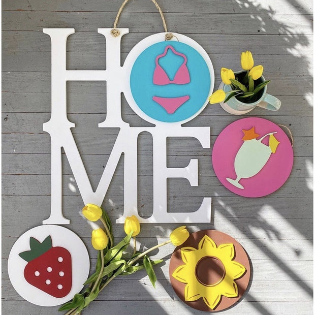 Interchangeable Home Sign-Home Decor-Greens Mill-White-So & Sew Boutique