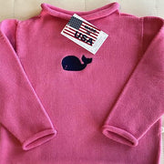 Jersey Rollneck Sweater - Fuchsia-Children's Apparel-A Soft Idea-So & Sew Boutique