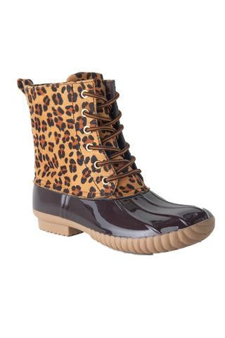 Leopard Print Duck Boots-Shoes-Avanti Shoes-So & Sew Boutique
