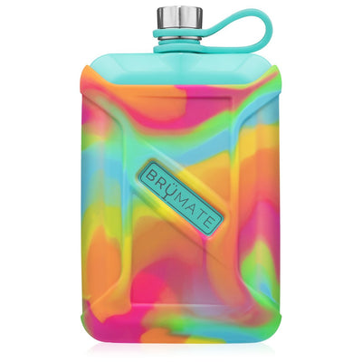 Liquor Canteen - Aqua Rainbow Swirl-Drinkware-Brumate-So & Sew Boutique