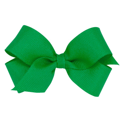 Mini Grosgrain Bow - Green-Accessories-WeeOnes-So & Sew Boutique