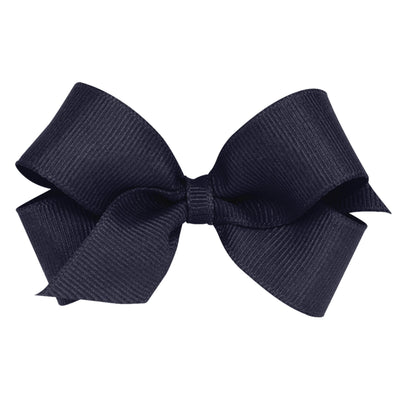 Mini Grosgrain Bow - Navy-Accessories-WeeOnes-So & Sew Boutique