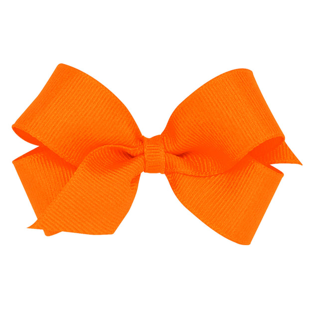 Mini Grosgrain Bow - Orange-Accessories-WeeOnes-So & Sew Boutique