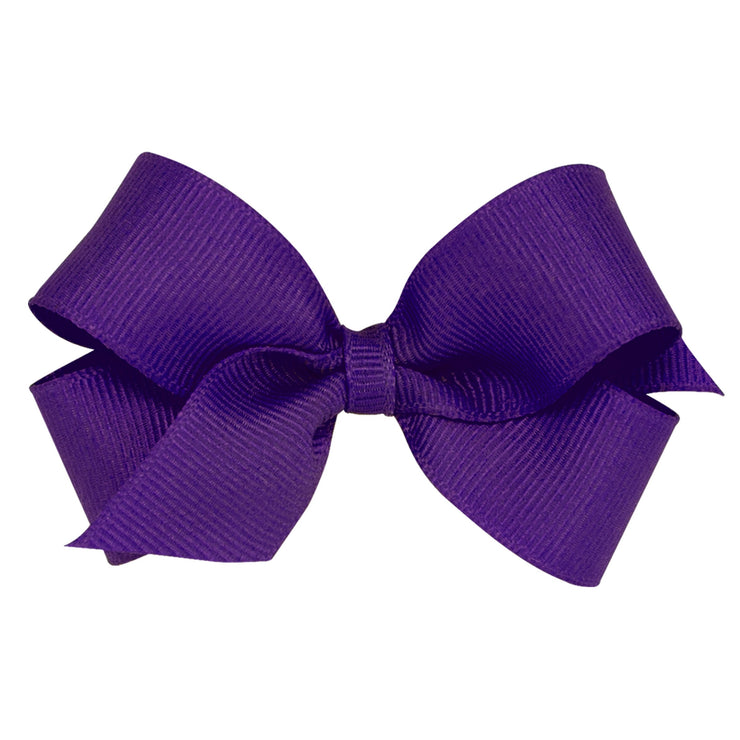 Mini Grosgrain Bow - Purple-Accessories-WeeOnes-So & Sew Boutique